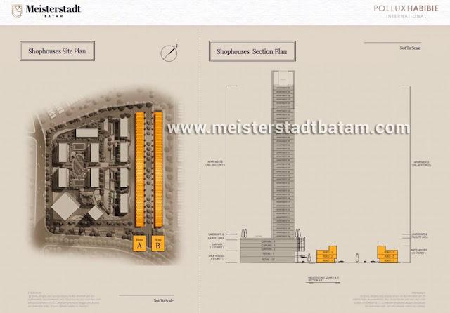 Shophouses Siteplan - Meisterstadt Batam