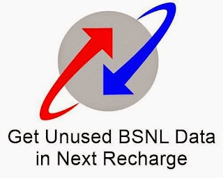 Now Get Your Unused BSNL Data in Next Recharge