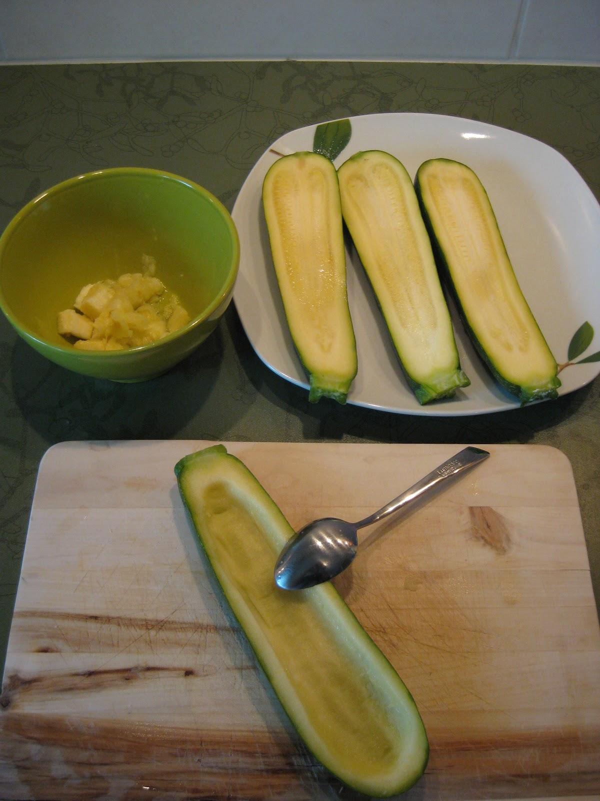 Mes recettes courgettes farcies au boulghour et beaufort for Blanchir legumes pour congeler