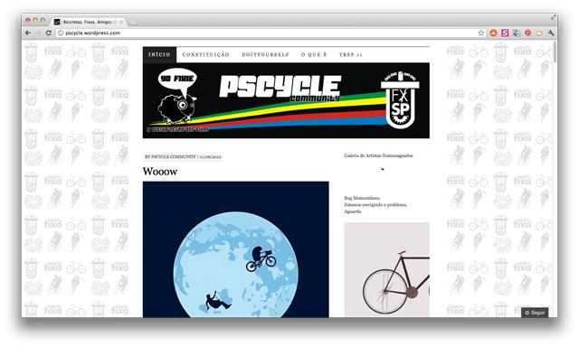 Psycle Community: Site incentiva o uso da bicicleta com humor