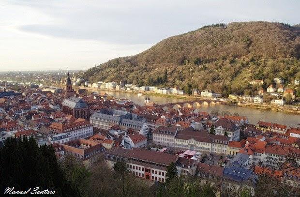 Heidelberg, panorama dal Castello