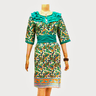 DB3244  Model Baju Dress Batik Modern Terbaru 2013
