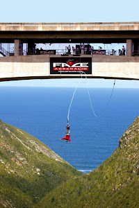 Bungee jumper, Bloukrans Bridge, South Africa