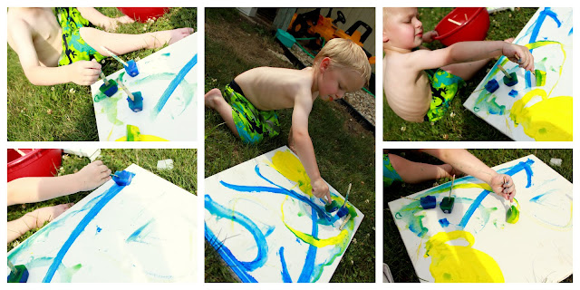 frozen paint art to beat the heat