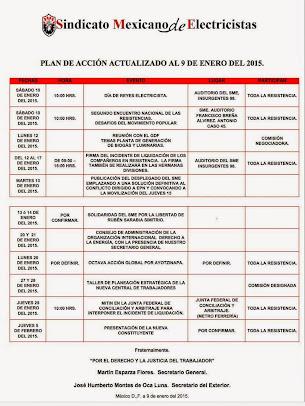 Plan de acción actualizado al 9 de Enero del 2015