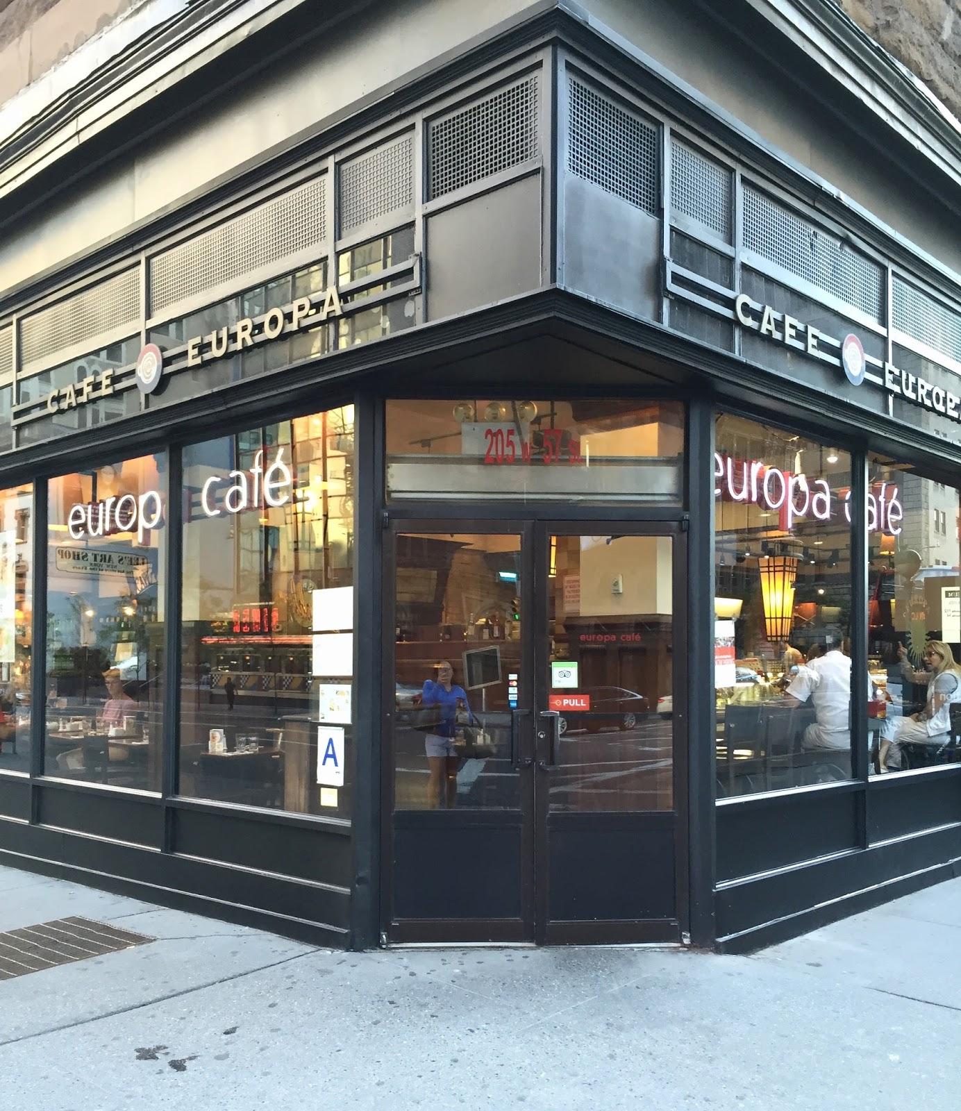 Europa Cafe New York Breakfast