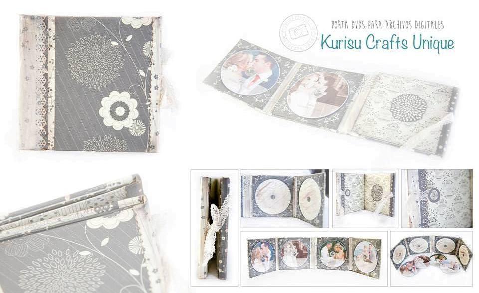 Porta DVDs para fotos de bodas Kurisu Crafts