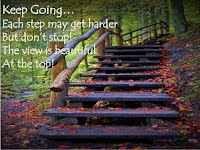 Picture text keep going up the steps to depression recovery the view at the top is beautiful