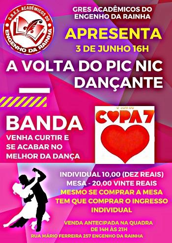 Baile COPA 7 no Engenho da Rainha