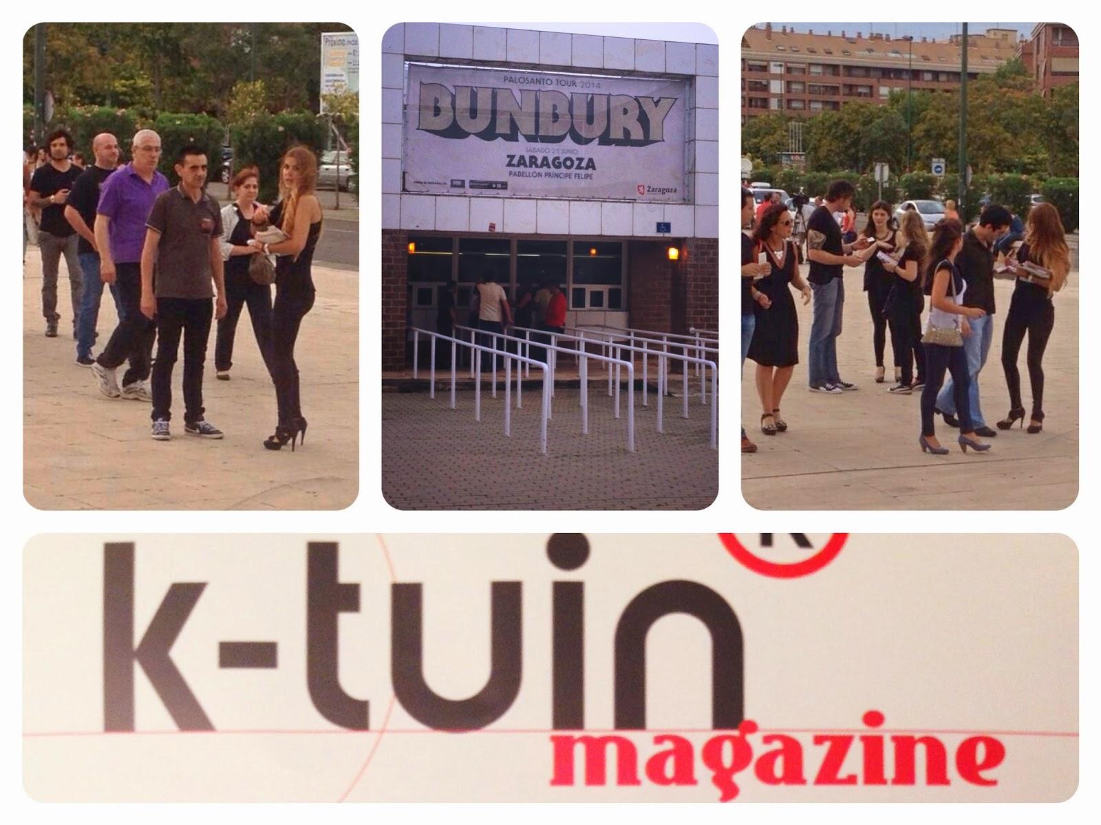 Accion promocional con azafatas de Ktuin en el concierto de Enrique Bunbury en Zaragoza el 21 de junio de 2014. Makoondo Azafatas y Eventos