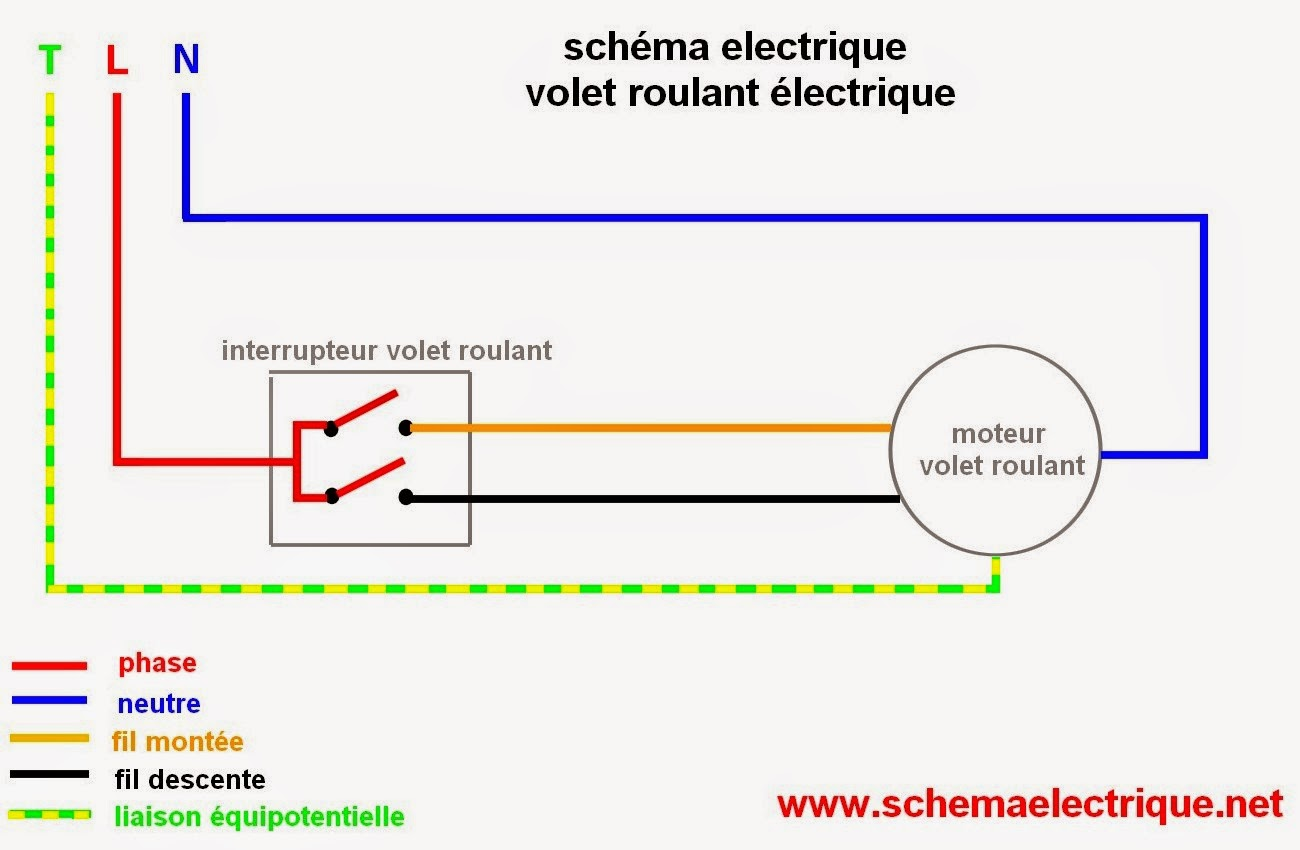 schema electrique branchement cablage - Section Cable Electrique Alimentation Maison