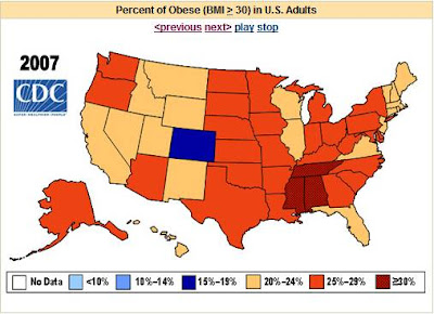 Obesity statistics in U.S.