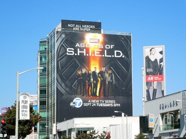 Giant Agents of SHIELD season 1 billboard