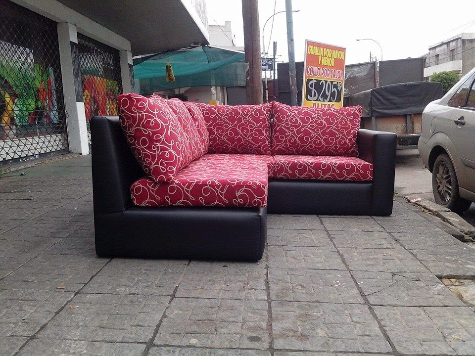 Confort Design Sillones Esquinero Ecocuero Negro Leblon