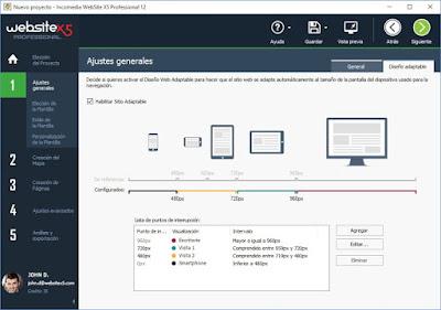 WebSiteX5, programa de creación de páginas webs