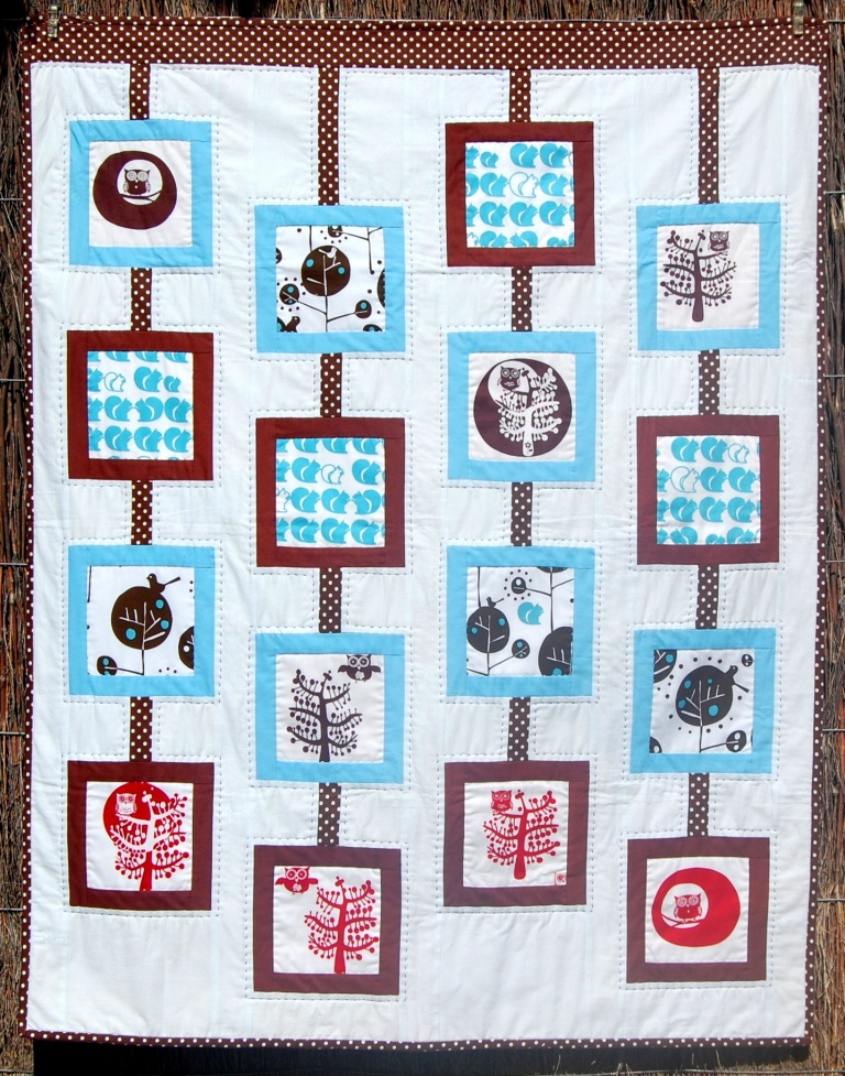Kate Conklin Designs: Baby Mobile - A modern baby quilt and a giveaway
