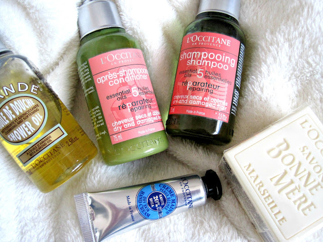 l'occitane almond shower oil hand cream repairing essential oil shampoo and conditioner