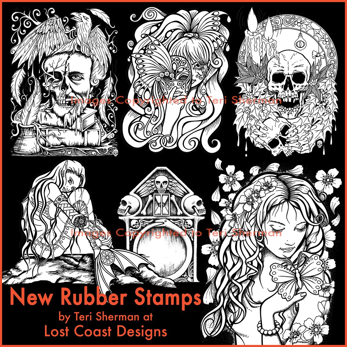 Rubber Stamps Available at Lost Coast Designs