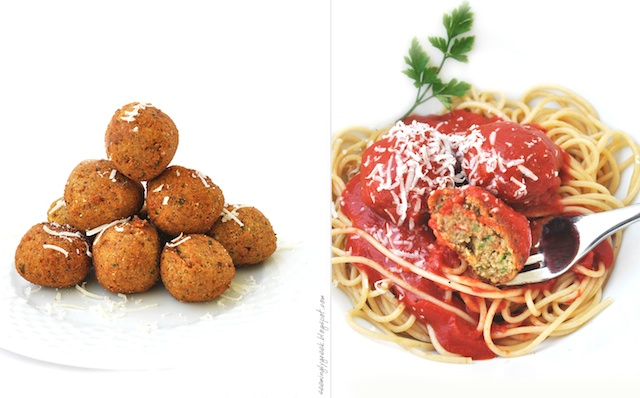 spaghetti lentils double+18 Spaghetti with Lentil Meat(less)Balls?