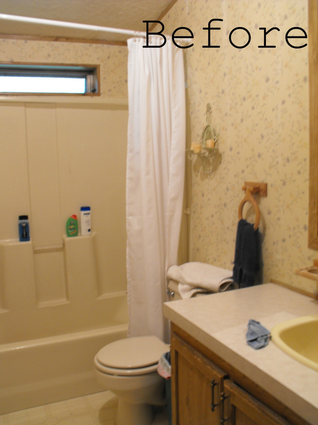 Home design ideas bathroom makeover for Before and after small bathroom makeovers