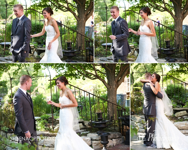 bride and groom first look photos best illinois photography wedding sycamore
