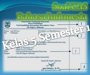 Soal UAS Bahasa Indonesia Kelas 5 Semester 1