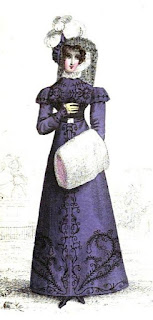 Walking dress   from La Belle Assemblée (Jan 1823)