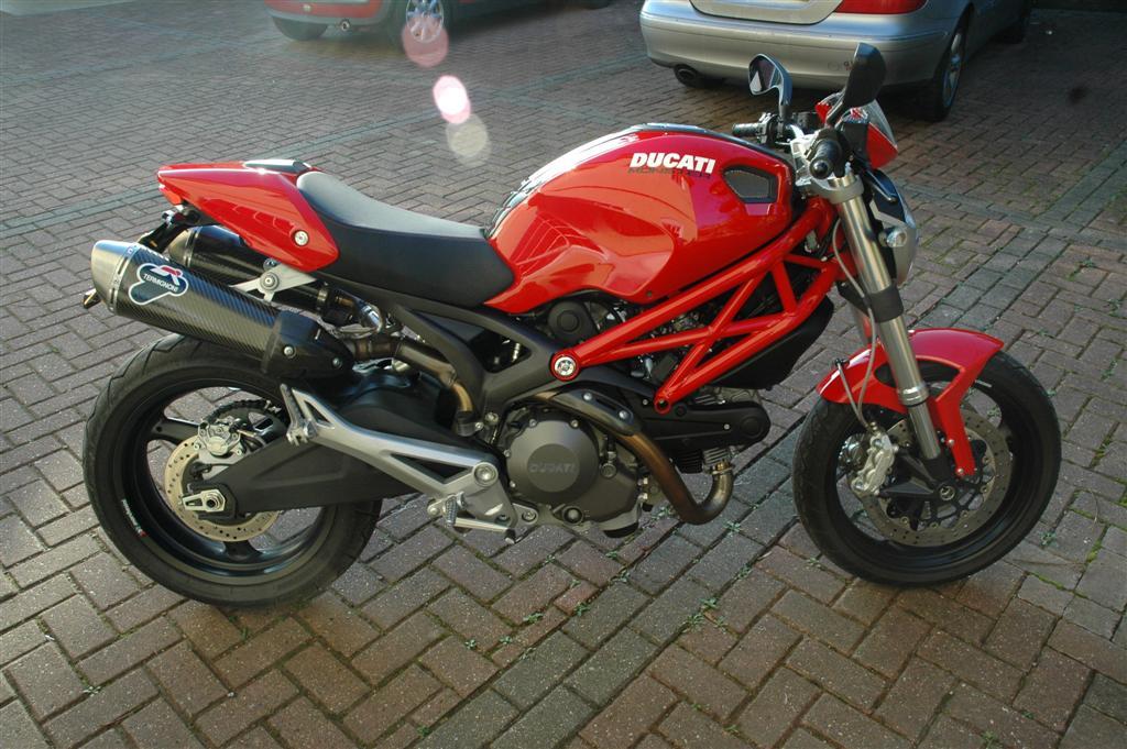 Black Ducati Monster