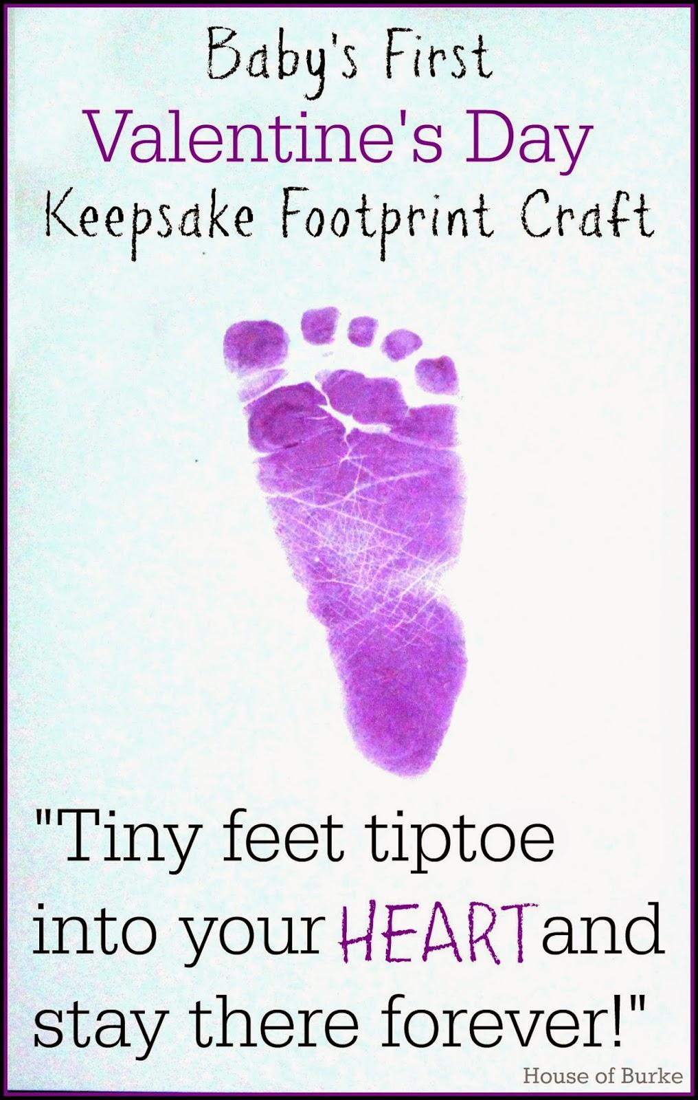 babys first valentines day keepsake footprint craft