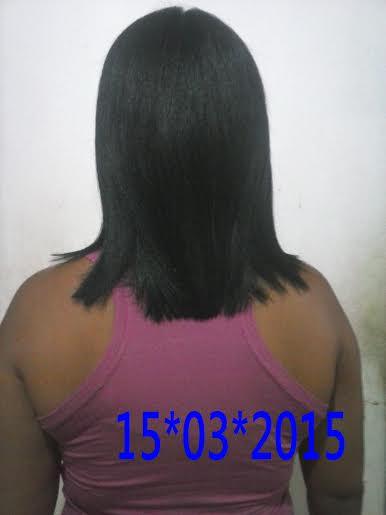 cabelos um mês depois