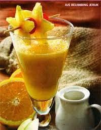 Jus belimbing segar, resep minuman kesehatan