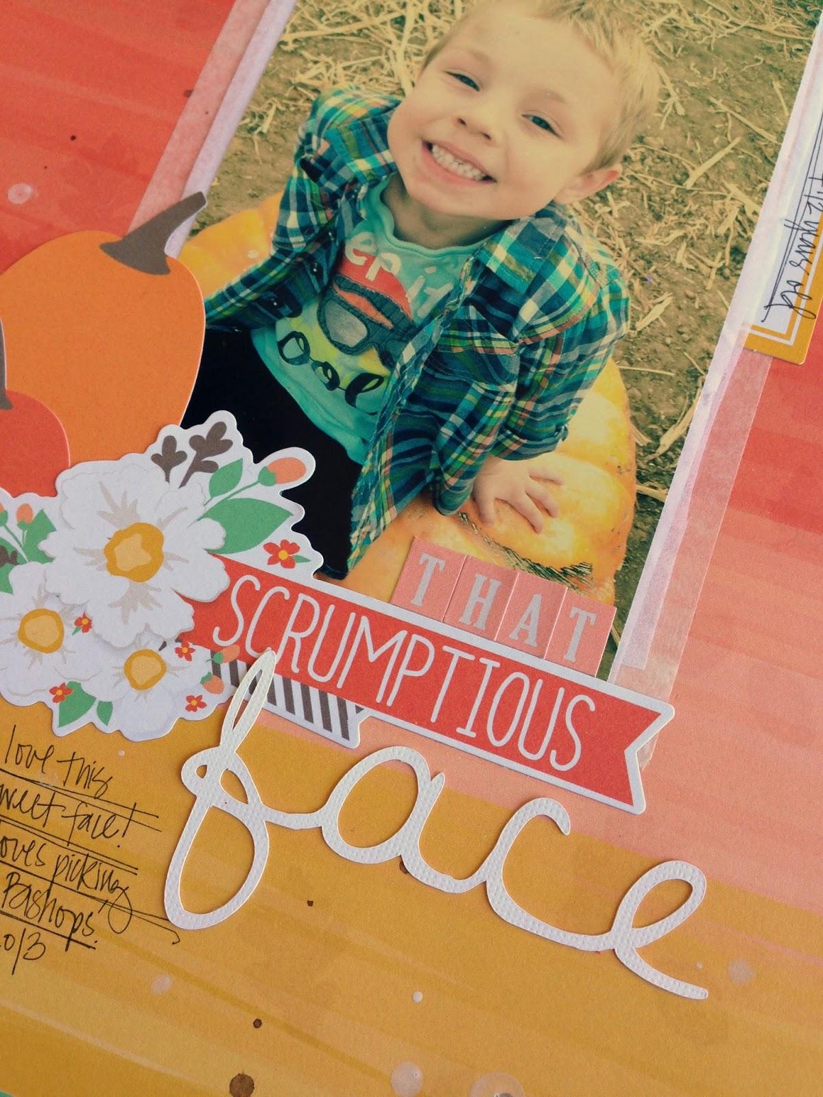 Tessa Buys Chickaniddy Crafts Fall Layout close-up2