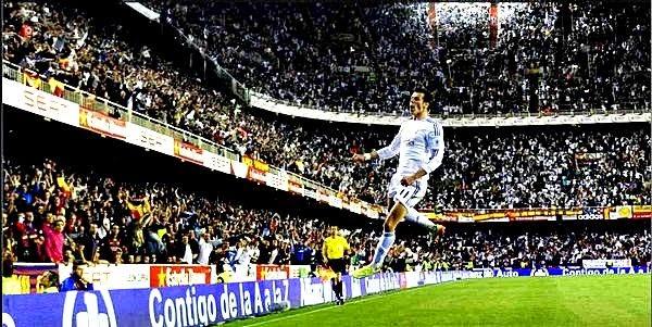 Garet Bale celebra su gol