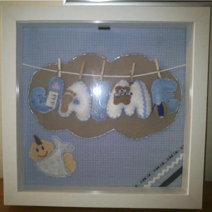 Cuadrito de fieltro bebé - Jaime