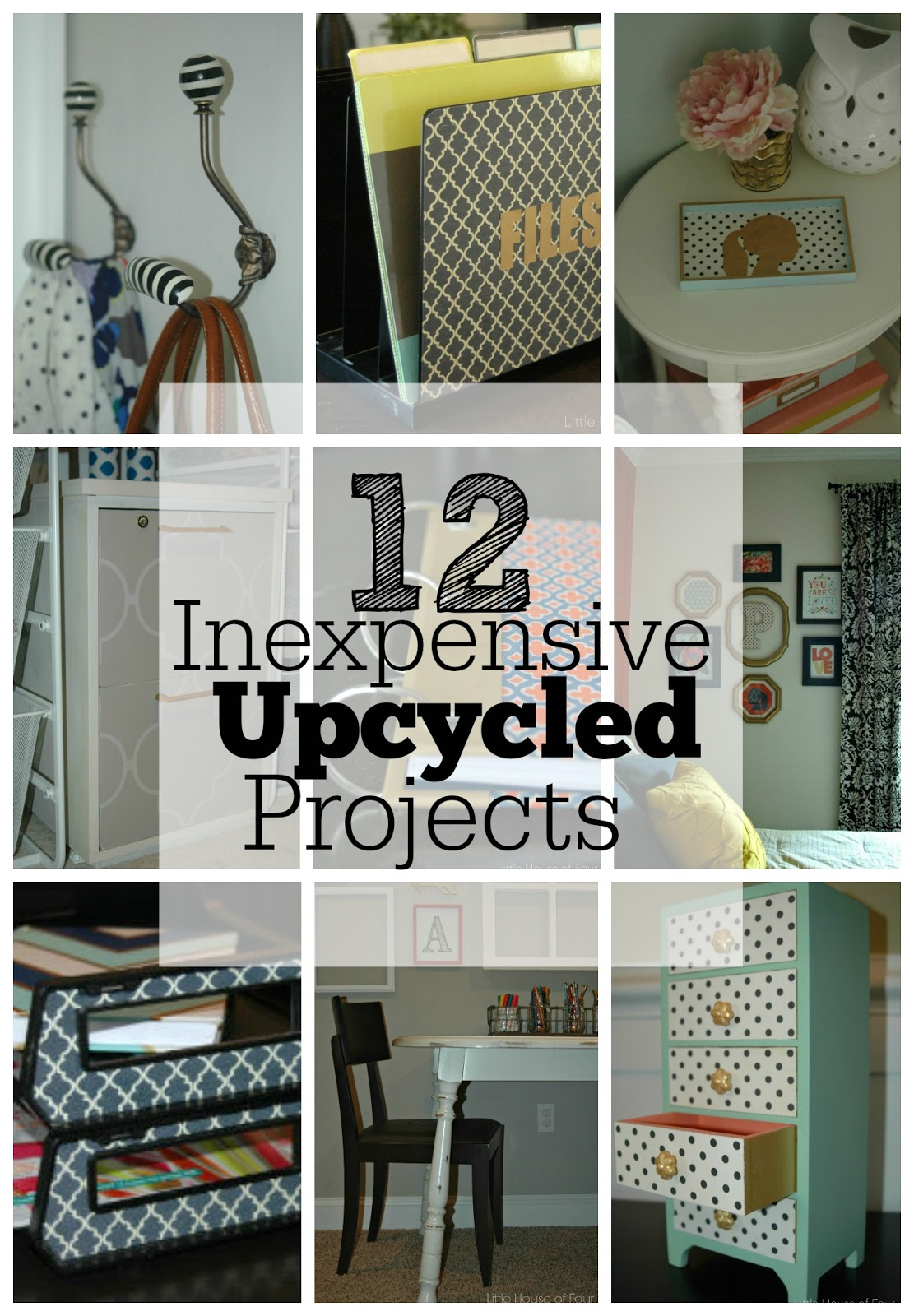 12 Inexpensive Upcycled Projects
