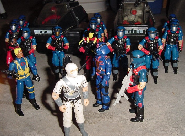 1997 Stormshadow, TRU Exclusive, Cobra Commander, 1983 Hiss Tank, Hiss Driver, 2006 Viper Pit, 1993 Crimson Guard Commander, Skeres