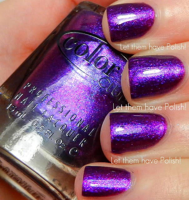 Color Club Holographic Nail Polish Swatches: Let Them Have Polish!: Color Club Winter Affair Holiday