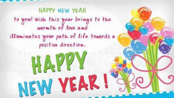 2016 New year greetings and wishes for family