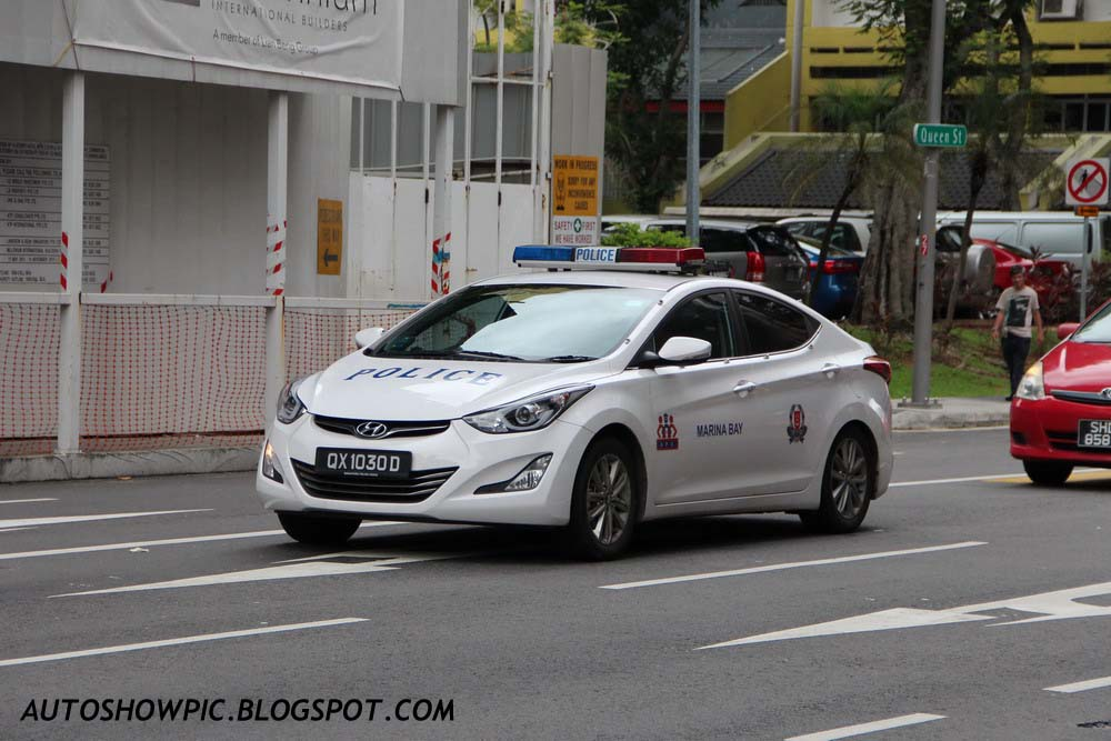 2014 Hyundai Elantra Facelift - Patrol Car of Singapore Police Force