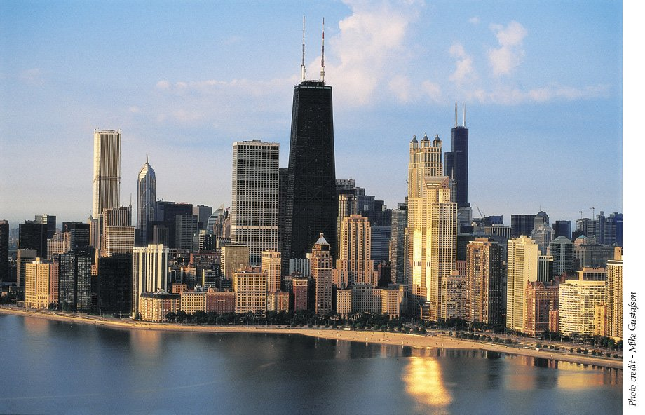 World visits chicago skyline view fantastic attractions for Us city skylines photos