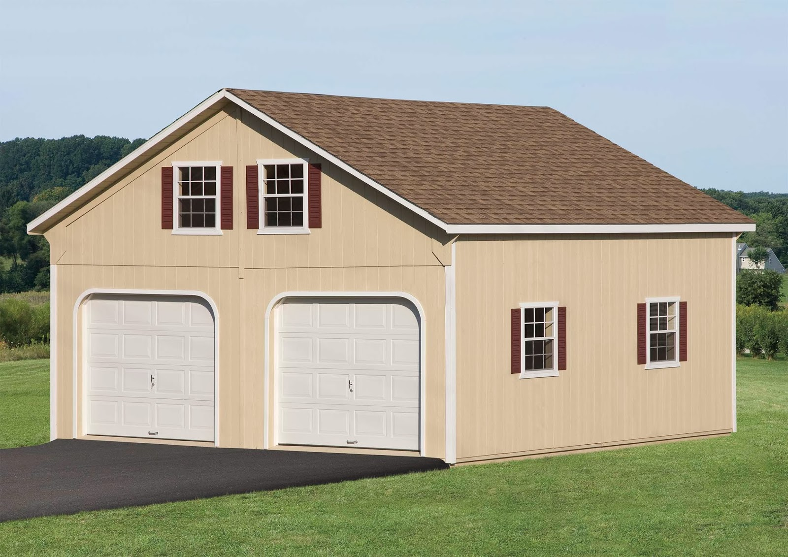 Waterloo structures storage sheds double wide garages for How wide is a garage