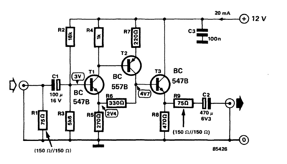electronic circuit  componnent data  lesson and etc u2026   video buffer  repeater