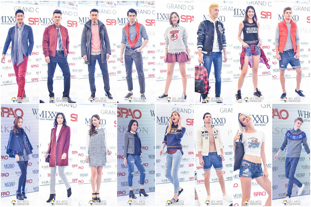 Model catwalk with outfits from SPAO MIXXO and WHO.A.U