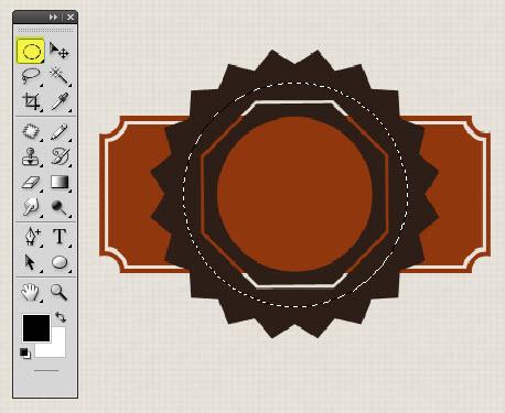 Buat layer baru lalu aktifkan elliptical marquee tool danbuat seleksi