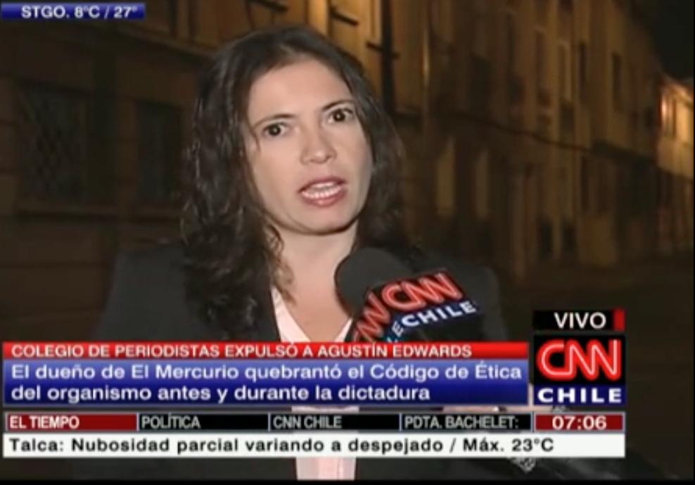 VIDEO: Presidenta del Colegio de Periodistas explicó expulsión de Agustín Edwards (CNN Chile)