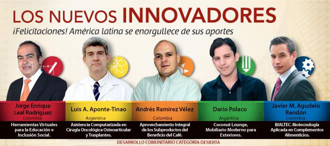 Ganadores del premio Innovadores de América