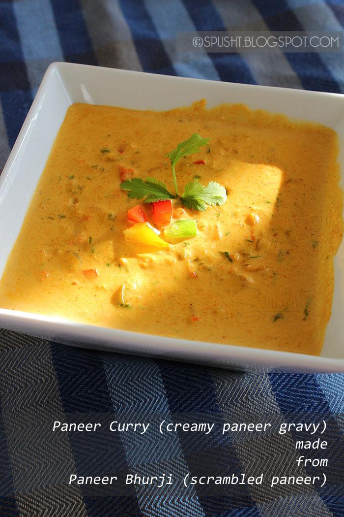 spusht | creamy paneer sabzi