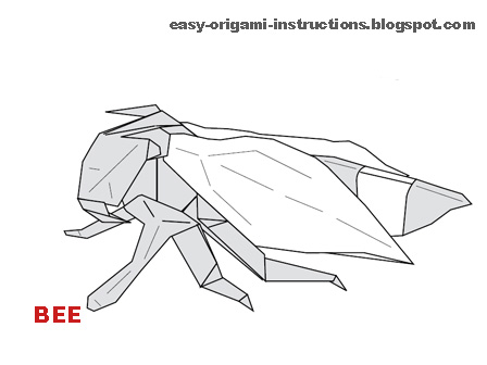 Here Is Origami Instructions To Fold A Bee It Easy Follow