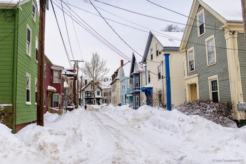 May Street in Portland, Maine USA January 2015 West End Snow photo by Corey Templeton