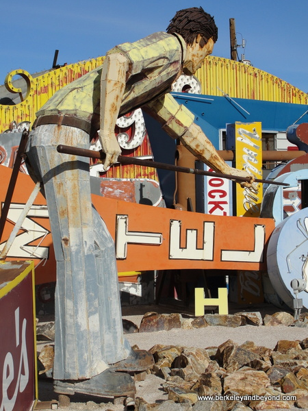 Mullett Man at The Neon Museum in Las Vegas, Nevada